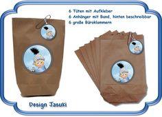 Geschenktüten - 6er Set Mitgebsel Tüten Ritter Kindergeburtstag - ein Designerstück von Kindergeburtstag1 bei DaWanda