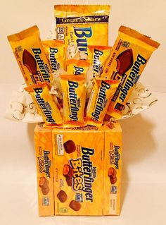butterfinger chocolate candy bouquet gift easter basket birthday anniversary from $20.0