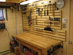"Excellent ""home tools garage"" info is readily available on our site. Check it out and you wont be sorry you did. Workshop Storage, Workshop Organization, Shed Storage, Garage Workshop, Tool Storage, Garage Storage, Storage Ideas, Hanging Storage, Garage Tools"