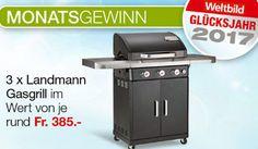 Gewinne mit #Weltbild 3×1 Landmann Rexon #Gasgrill im Wert von jeweils CHF 385.-.  https://www.alle-schweizer-wettbewerbe.ch/gewinne-3x1-gasgrill/