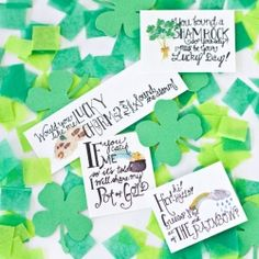 Free printable (tiny!) leprechaun notes to leave around the house on St. Patrick's Day!