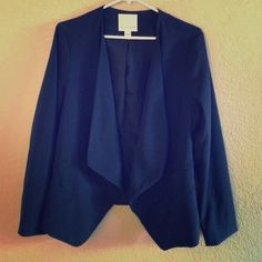 Navy Blazer Navy blazer. It has very flattering details on the sides. Purchased through Posh but unfortunately it fits me too big :( Mercer & Madison  Jackets & Coats Blazers
