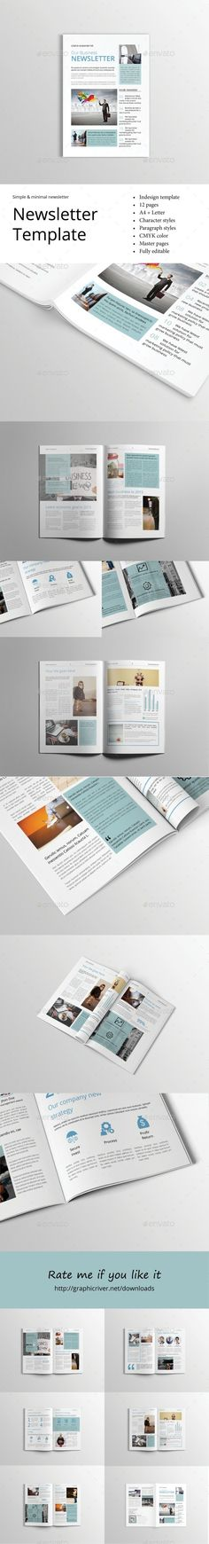 Business Newsletter Vol Vii  Newsletter Templates Print