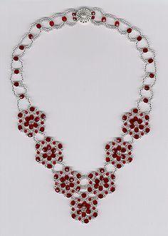 Cecile's Wheel Necklace by Ann - rubysbeadwork.com