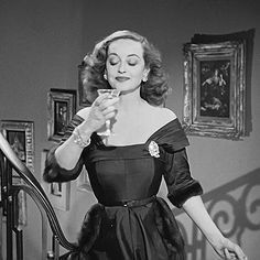 "tonydibartolomeo: "" "" julia-loves-bette-davis: "" Bette Davis in All About Eve, 1950 "" She really needed that drink. "" If I had to pick an all-time favorite film, this would be it. Golden Age Of Hollywood, Vintage Hollywood, Hollywood Stars, Classic Hollywood, Hollywood Lights, Classic Actresses, Classic Movies, Actors & Actresses, Joan Crawford"
