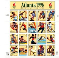 1996, US-Atlanta Olympics Sheet of 20 Stamps, Never Hinged, NEW,  Mint Condition