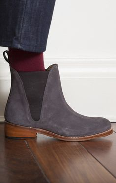 48bcc868ab07 Grenson Nora Charcoal Suede Chelsea Boot - Footwear Suede Chelsea Boots