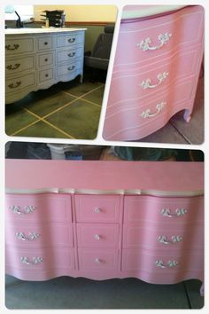 Furniture redo. Before and after                                craft  dresser