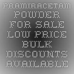 Pramiracetam Powder for Sale - Low Price. Bulk Discounts Available