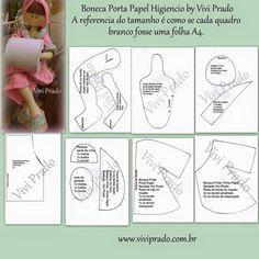 Molde de bonecas - Ver e Fazer Fabric Doll Pattern, Fabric Dolls, Doll Clothes Patterns, Clothing Patterns, Bathroom Crafts, Sewing Dolls, Saved Items, Free Pattern, Cross Stitch