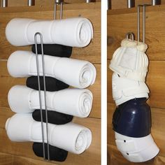 Easy up utility hook to keep things organized in front of the stall