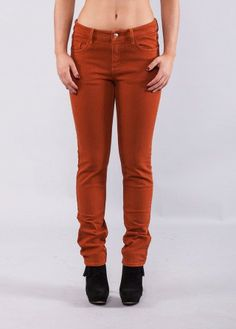 Lynn color denim burned orange