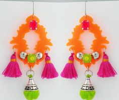 Neon earrings von Fluoduo auf Etsy, $49.00