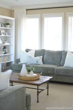 Create a cozy and inviting home while decorating with neutrals with these easy and simple decor tips | A Burst of Beautiful