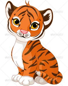 Cartoon Of A Cute Baby Tiger Cub Sitting Royalty Free Vector Clipart Clipart Baby, Cat Clipart, Clipart Images, Vector Clipart, Cartoon Tiger, Black Cartoon, Cute Cartoon, Cute Tiger Cubs, Cute Tigers