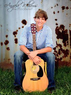 Senior boy session with guitar