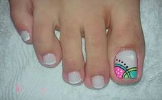 Uñas pies Pretty Toe Nails, Cute Toe Nails, Toe Nail Art, Love Nails, Toenail Art Designs, Pedicure Designs, Purple And Pink Nails, Nail Picking, Spring Nail Trends
