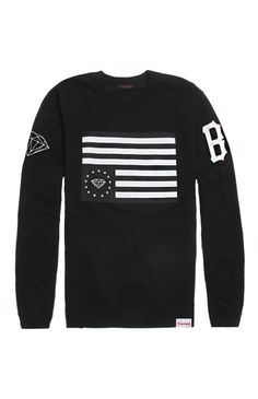 Diamond Supply Co Blvck Rebel Flag Crew Fleece at PacSun.com