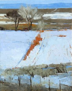 Dinah Worman January Red Willows (n.), oil, 61 x cm. Via Artsy; see also, the artist's website. Farm Paintings, Paintings I Love, Pastel Paintings, Abstract Landscape, Landscape Paintings, Abstract Art, Collage, Winter Landscape, Portraits
