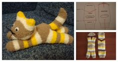DIY Cute Sock Kitten Did you know you can make a cat from a pair of socks? Sock animals are cute and very fun to make. Most important, you don't need to have sewing machine skill to create a sock toy, as it is a very easy project. Sewing Toys, Sewing Crafts, Sewing Projects, Sock Snowman, Sewing Stuffed Animals, Sock Toys, Sock Crafts, Sock Animals, Easy Animals