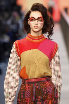 080 Barcelona Fashion Week. Stong pattern and vivid colours at Manuel Bolaño ' SOIXANTE-QUATORZE' Collection AW14/15