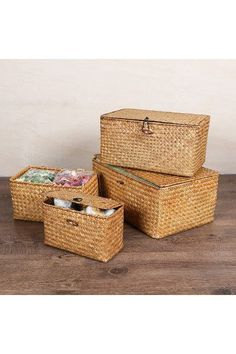 Keep your trinkets and accessories safe with a truly stunning Woven Storage Basket. Designed by  sc 1 st  Pinterest & Hand-Woven Water Hyacinth Baskets With Lid Black Color Woven ...
