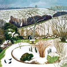 John Nash R. A Garden in Winter. He served with The Artists Rifles from British Artist, Winter Images, Royal Academy Of Arts, Landscape Paintings, Winter Landscape, British Art, Watercolor Landscape, Landscape Art, Garden Art
