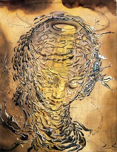 """Raphaelesque Head Exploding"", Salvador Dali, 1951. Oil on Canvas. Scottish National Gallery of Modern Art. GML 345.    ~Happy Birthday Dali!"