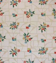 kitchen wallpaper designs. 1930 s Vintage Wallpaper Red Blue Flowrers by RosiesWallpaper 1930s Kitchen With Yellow Flowers In