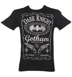 Men's Black #DC Comics Dark Knight Gotham Protection T-Shirt xoxo #Batman