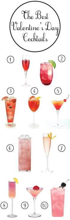 dThe Best Valentine's Day Cocktails! #Valentines #Cocktail