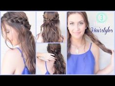 3 Quick & Easy Half-Up Hairstyles | Courtney Lundquist - YouTube