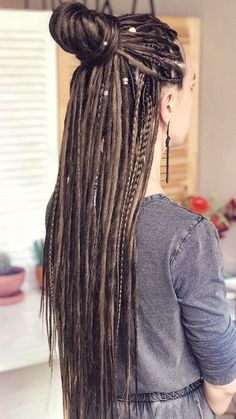 Dread Braids, Dreadlock Hairstyles, Braided Hairstyles, Blond Rose, Double Ended Dreads, Synthetic Dreadlocks, Dreadlock Extensions, Dreads Girl, Look Girl