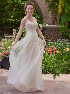 """Chelsea"" by Rebecca Ingram -Available from The Bridal Boutique, West Yorkshire. 01274 591452."