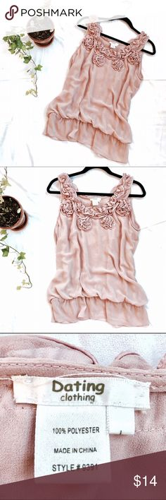 2db1c1dd4491f Light Pink Flower Loose Dress Top This beautiful, excellent quality light  creamy pink frilly &