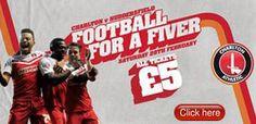 Charlton Athletic FC 5 quid football good for families