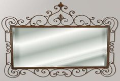 Second Life Marketplace - Ornate Wrought Iron Mirror