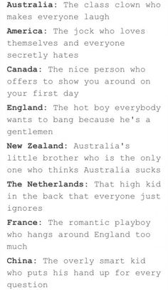 If country's where classmates