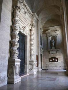 Particolare dell'ingresso del Duomo di Siracusa