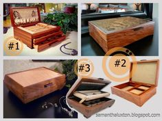 3 Beautiful and Unique Finely #Handcrafted Wood #JewelryBoxes