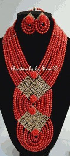 Gorgeous coral bead jewelry