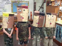 Mrs. Allen's Art Room: Picasso Portraits 5th Grade Art, Grade 2, Picasso Portraits, Art History Lessons, Maurice Sendak, Paper Mask, Art Lessons Elementary, Art Base, Cubism