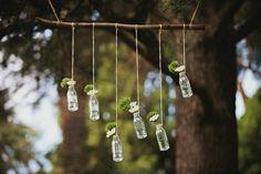 DECO: Jarrones de vidrio con muchas flores v.II
