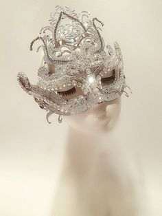 Rhinestone crystal mask,Gatsby Style Wedding Mask,Metal Venetian Masquerade mask with Crystal Gems ♥Description♥ This is a sexy looking mask. I was