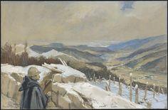 Panorama de Munster, janvier 1916. François Flameng.