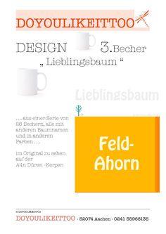 3. Becher mit Baum-Motiv aus Autobahn 4n - Serie: 26 Becher in 13 Farben in Möbel & Wohnen, Kochen & Genießen, Gedeckter Tisch | eBay