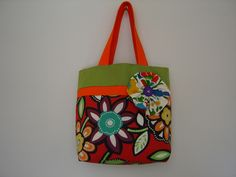 Large Beautiful Lined Tote Bag by SuziesSewingCreation on Etsy Homemade Bags, Reusable Tote Bags, Sewing, Trending Outfits, Fun Ideas, Unique Jewelry, Handmade Gifts, Floral, Beautiful