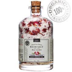 Organic Bath Salt - Dead Sea Detox spa - Rose (13oz) 23.99