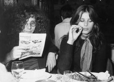 Rainer Langhans and his girlfriend Uschi Obermaier in a Munich restaurant Two of the founders of the Berlin Commune 1 which was eventually...