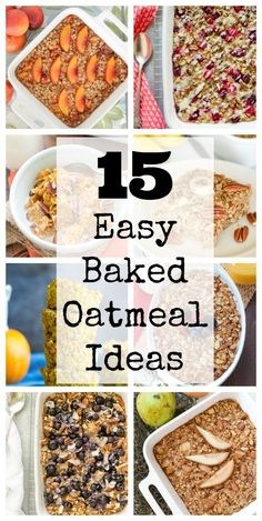Baked Oatmeal is such an easy and healthy make-ahead breakfast option, and the flavor combinations are limitless, so it never gets boring! Here are 15 delicious Baked Oatmeal ideas!